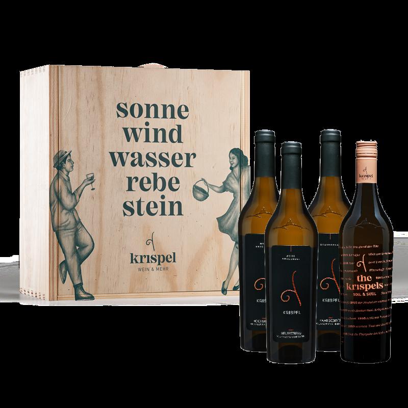 Burgunder-Paket mit Holzbox