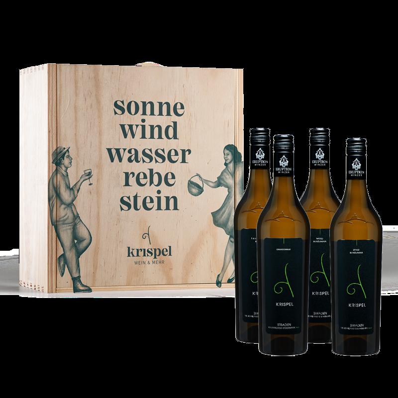 Ortswein-Paket von Krispel mit Holzbox